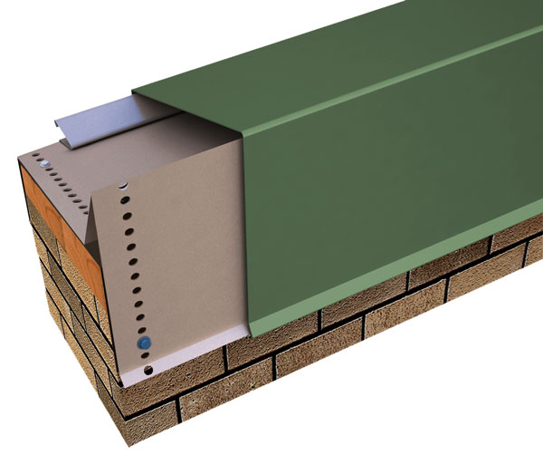 "Perma-Tite Coping, Over 6"" to 12"" Face Height Masonry, Tapered"